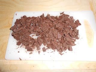 ciambella con scaglie di cioccolato