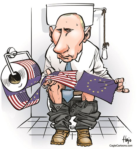 Russia, United States, Putin, Vladimir Putin, Barack Obama, Crimea, Ukraine, Cartoon, Funny pictures,