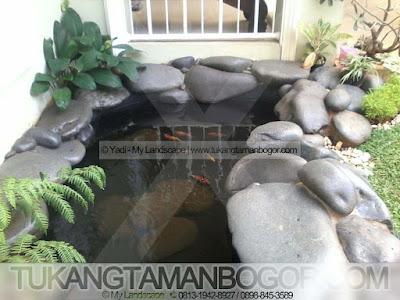 Kolam Minimalis Batu Kali | Tukang Kolam