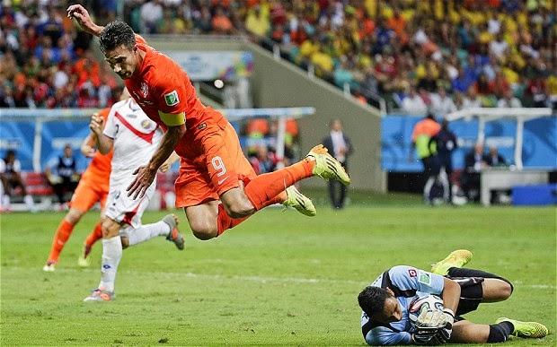 Belanda Menang dari Kosta Rika 4 -3