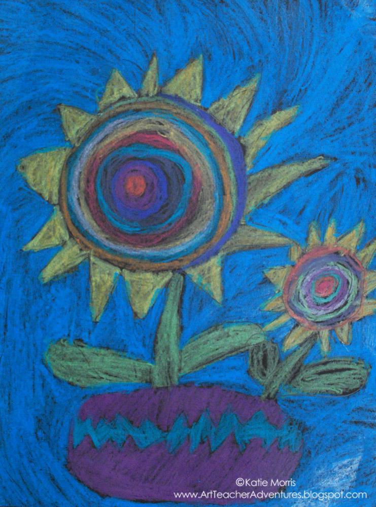 Kindergarten sunflower drawings