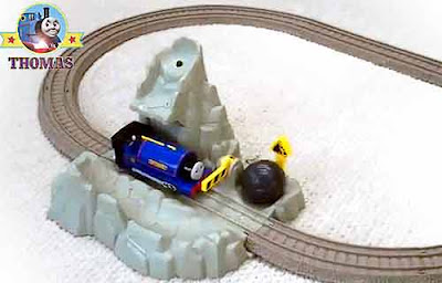 Sir Handel the train Thomas the tank engine Blue Mountain Mystery toy TrackMaster Runaway Boulders