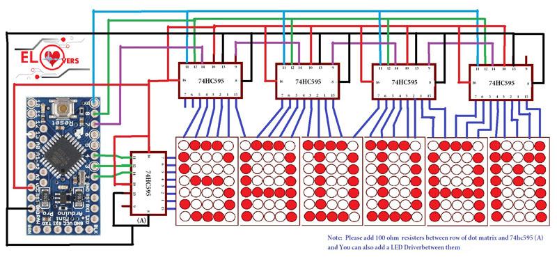 Dot matrix arduino