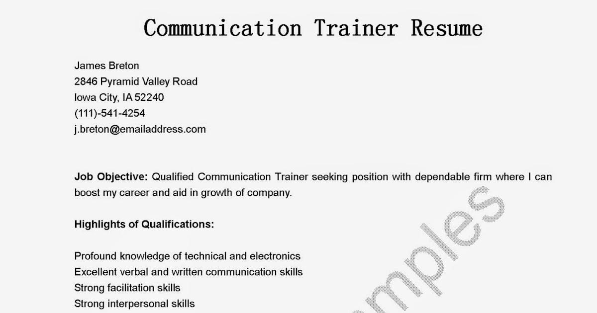 Ehr Trainer | Resume Cv Cover Letter