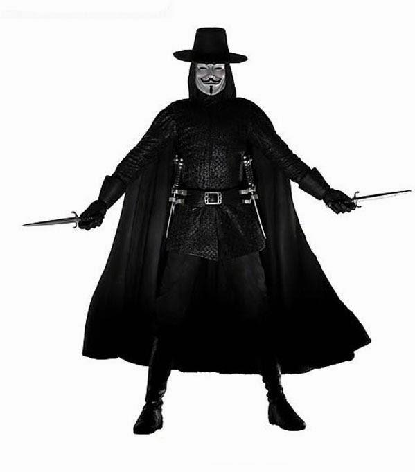 Figura V de Vendetta con Sonido