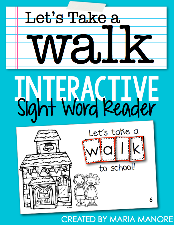 "emergent reader for sight word ""WALK"""