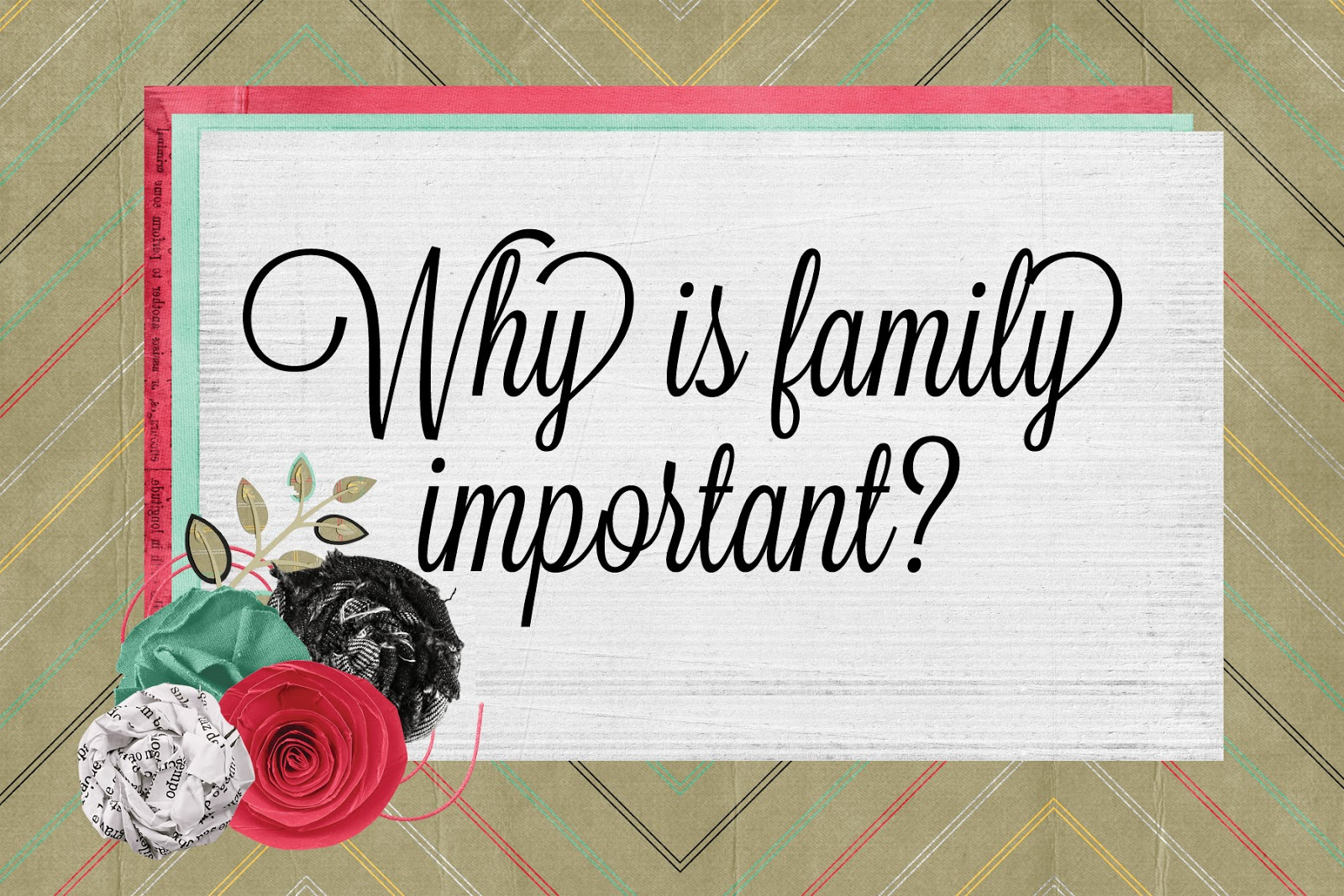 why family is important I think that growing up, you don't realize how important your family is until you leave for college and don't get to see them on a regular basis once you start working, it is important to have a work life balance so that you get to spend time with your family.