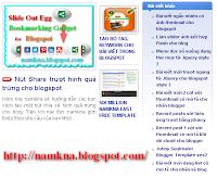 Tiện ích Recent post dạng 3 cột cho blogspot.