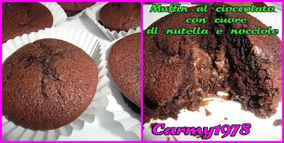 Muffin-al-cacao-con-nutella