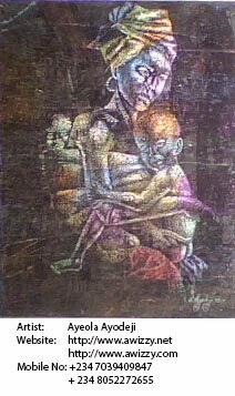 renown nigerian painter ayeola ayodeji abiodun the african art painting by best artist in nigeria