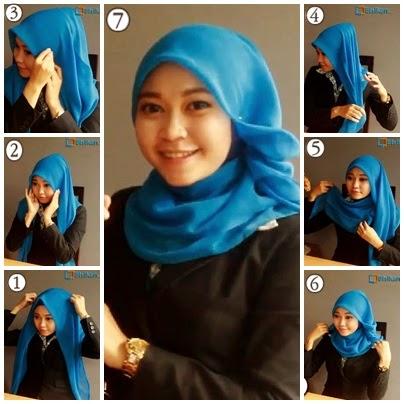 Tutorial hijab pashmina simple untuk wajah bulat   Terbaru Terkini ...