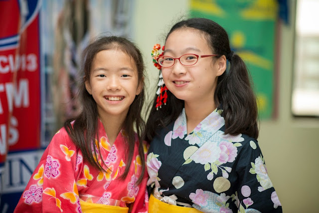 Traditional Japanese dress at International Day BIS 2013