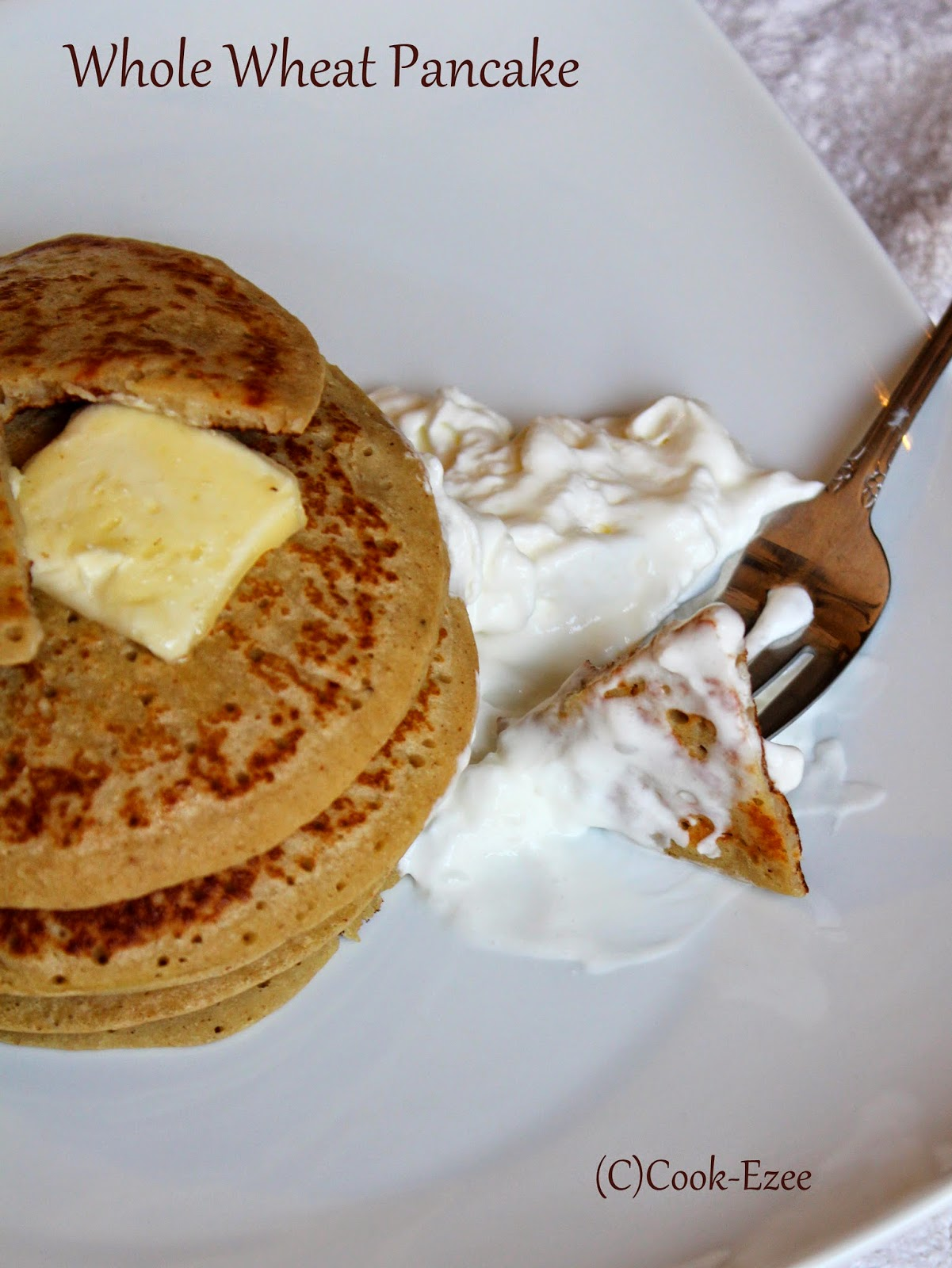 COOK-EZEE: Whole Wheat Banana Pancakes ~ Soft and Fluffy