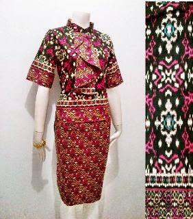 Model Baju Batik Pramugari Motif Asmat