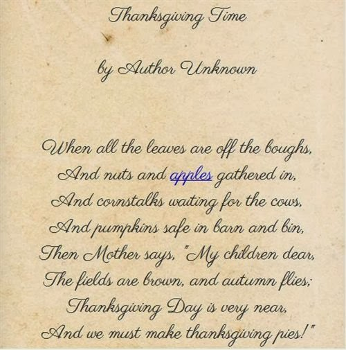 Best Thanksgiving Poems For Kids To Recite