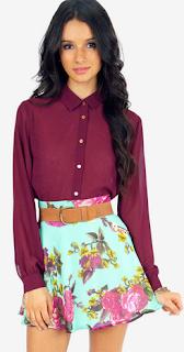 Fairly Flowering Skater Skirt Floral Tobi