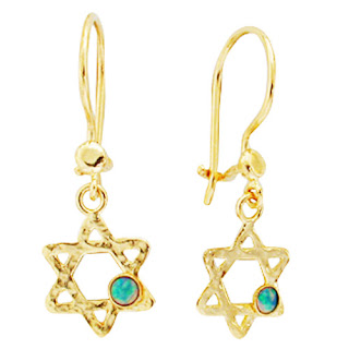 Hebrew Earrings - Star Of David
