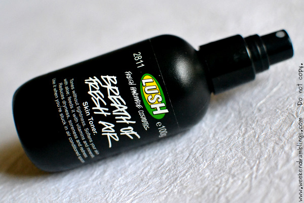 Lush Breath of Fresh Air Skincare Toner Water Reviews Ingredients