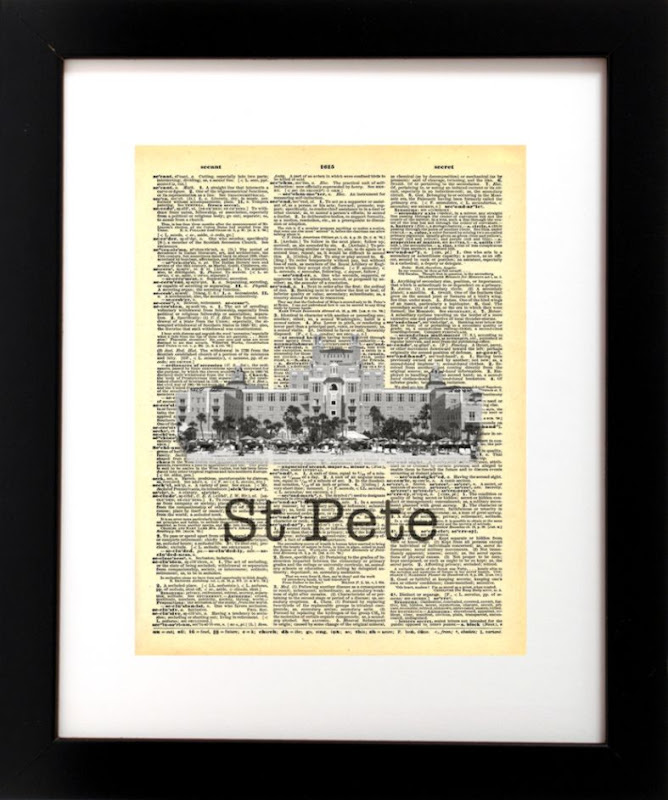 St Pete Don CeSar   Vintage Recycled Art – Local Vintage Prints