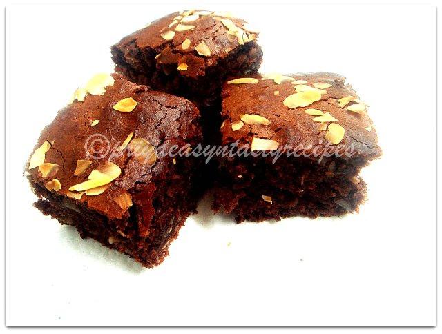 Priya s Versatile Recipes: Eggless Almond,Chocolate & Flax ...