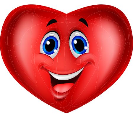 Blue-eyed heart emoticon