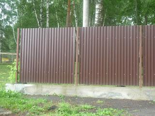 Забор из профлиста. Фото 10