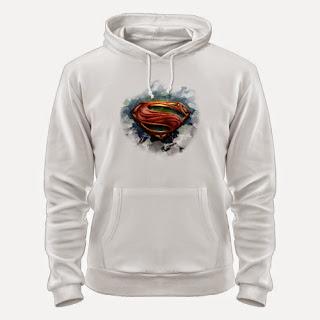 толстовка с логотипом супермена