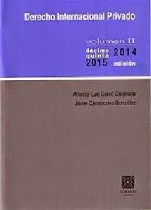 Derecho Internacional Privado Volumen II. Manuales Técnicos Especializados de Derecho.