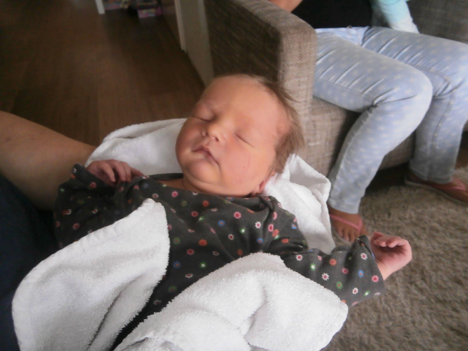 Onze kleinzoon Menthe. Yann