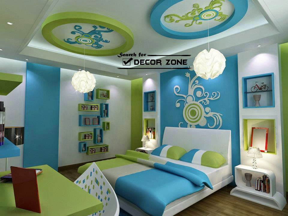 Latest gypsum board design catalogue for false ceiling for Latest children bedroom designs