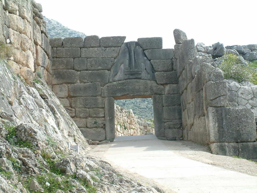 Di qua e di la storia dell 39 archeologia history of - La porta dei leoni a micene ...