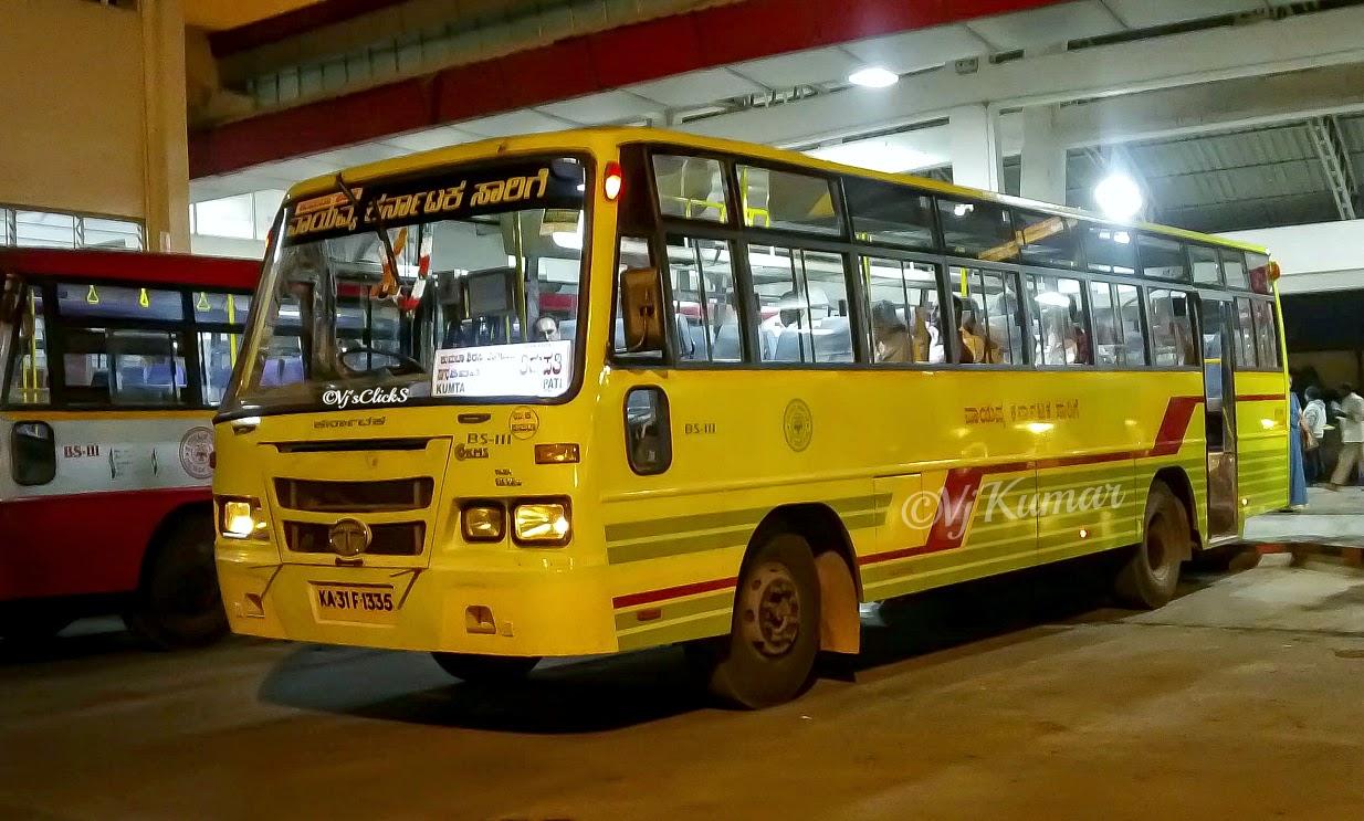 Kumta-Bangalore-Tirupati Pancharangi at Shimoga Bus Stand