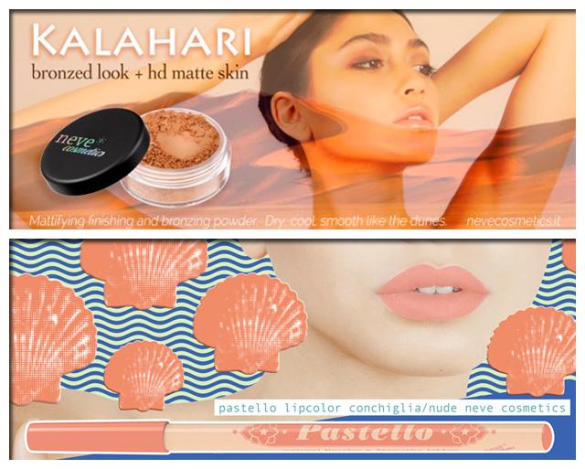 Neve Cosmetics - Cipria Kalahari, Pastello Labbra Conchiglia-Nude