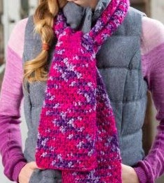 Maggie's Crochet   Free Plush Woven Scarf Pattern