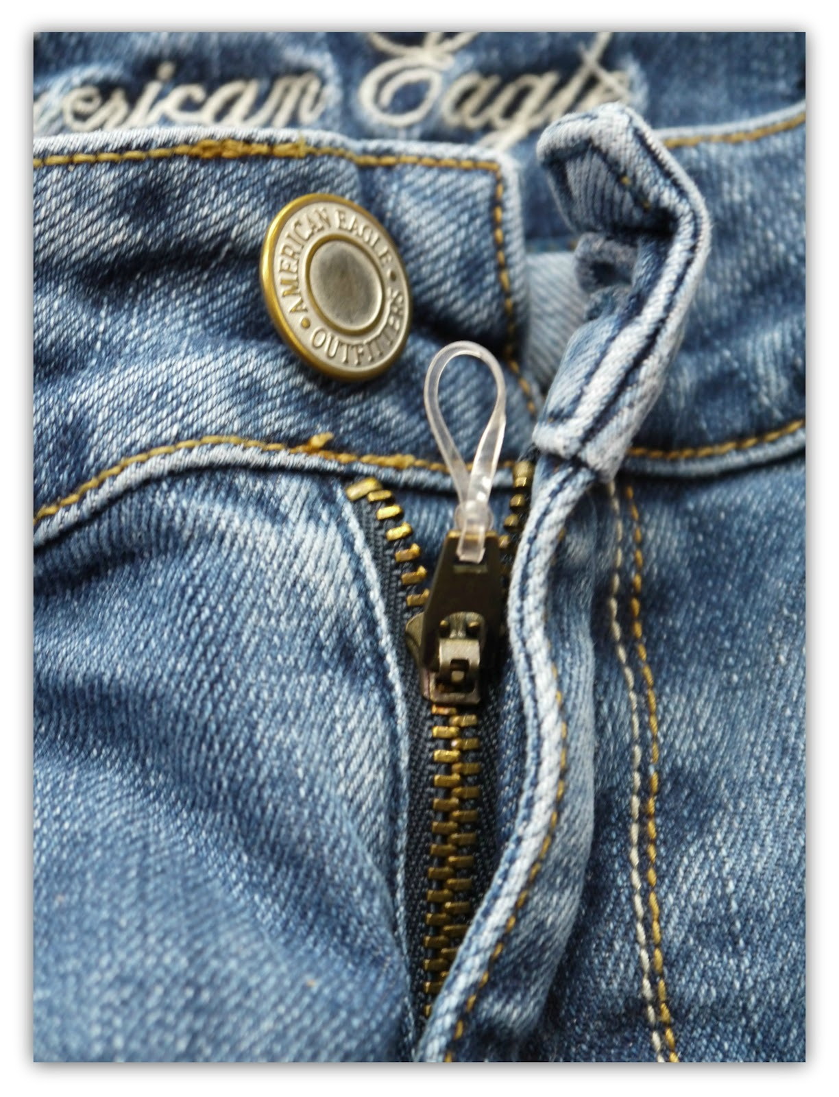 Quick fixes for loose zippers and too tight to button jeans sweet how easy is that problem solved ccuart Images