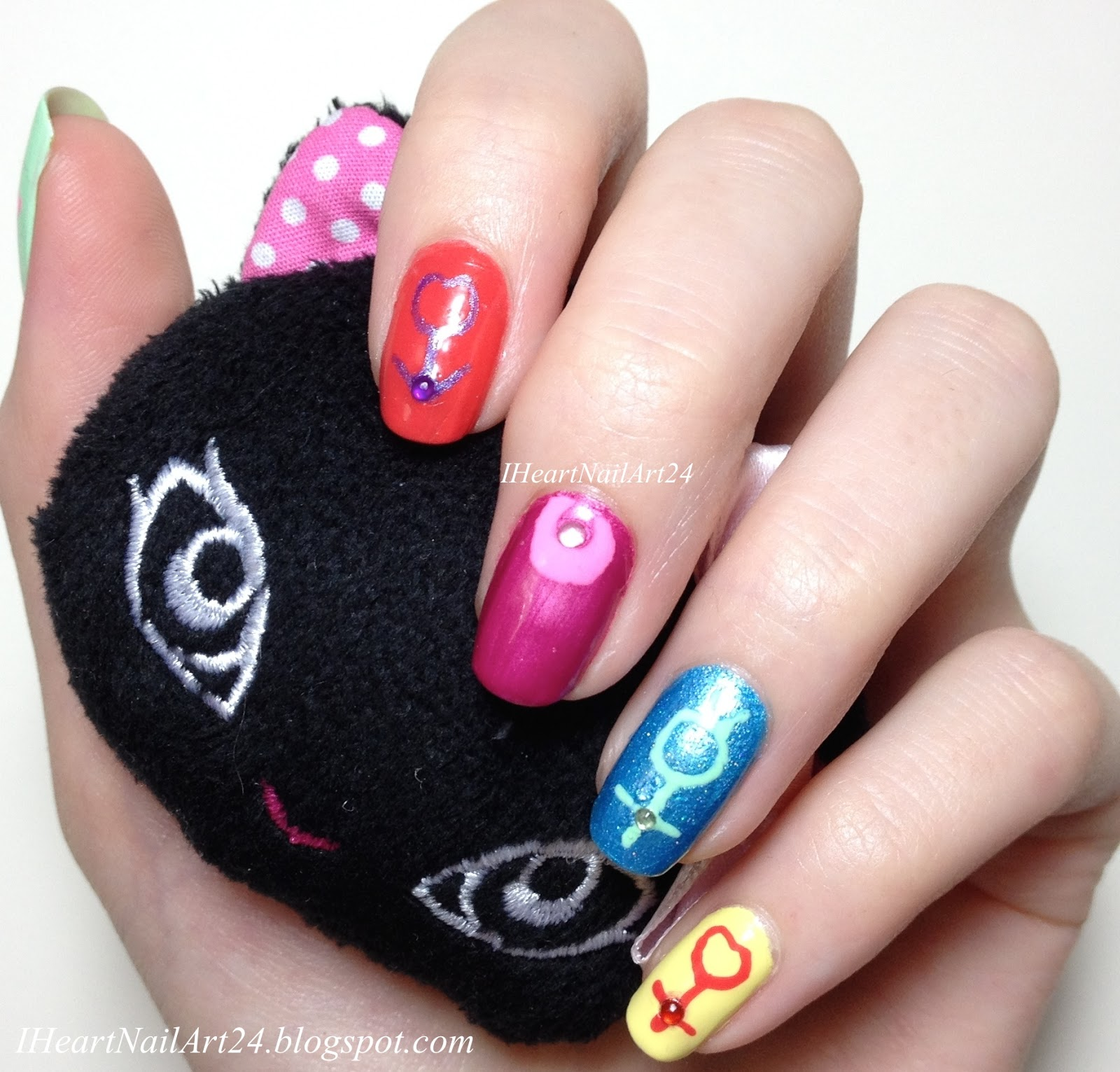 Sailor Moon Nail Art With Beme Nail Art Pens I Heart Nail Art