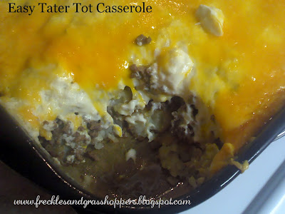 Freckles and Grasshoppers: Easy {Tater Tot} Casserole