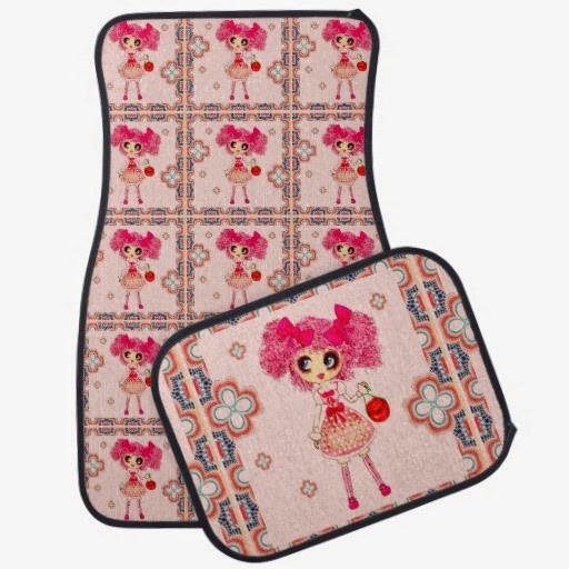 kawaii girl car mats girly pink accessories car