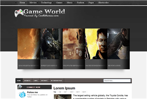 Game World Blogger Template
