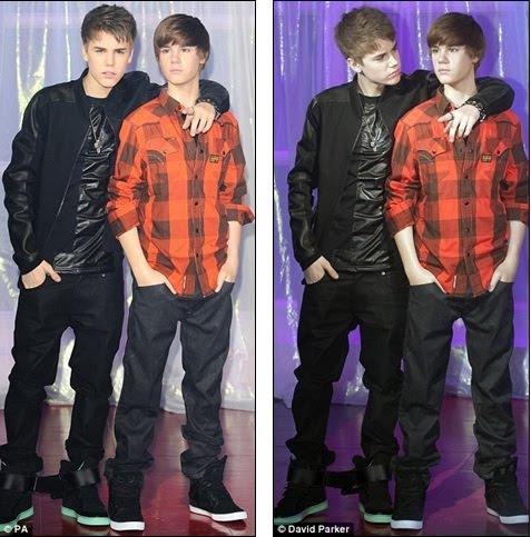 justin bieber waxwork. Spot the difference: Bieber