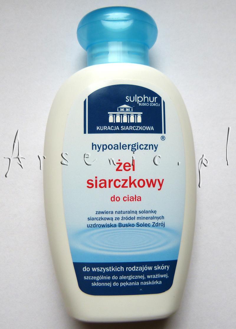 Hypoalergiczny żel siarczkowy do ciała Sulphur Busko-Zdrój