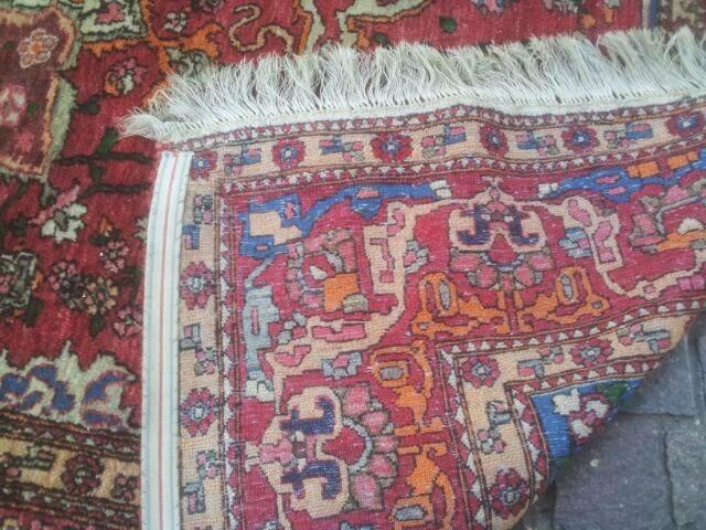 Sir xristian antiques alfombra persa heriz hecha a mano - Alfombras a mano ...