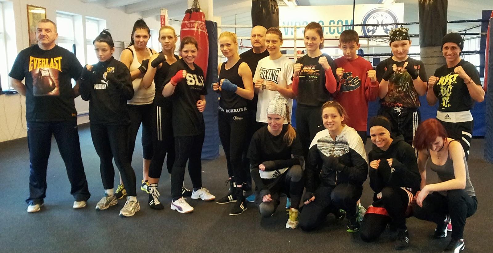 sparingi, boks, Poznań, kobiety, sport, trening, przygotowania, Adriana Marczewska, Magdalena Józak, Kinga Szlachcic