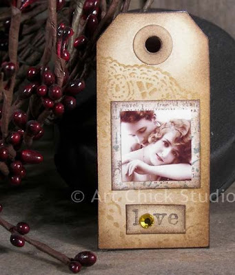 Love Altered Art Tag