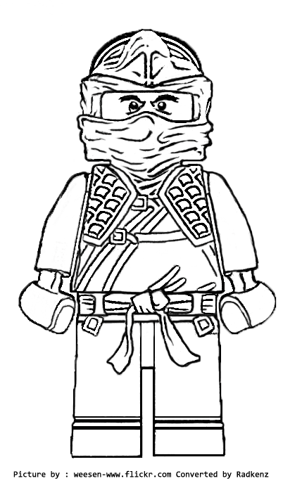 Lego Ninjago Coloring Pages Kai Dx