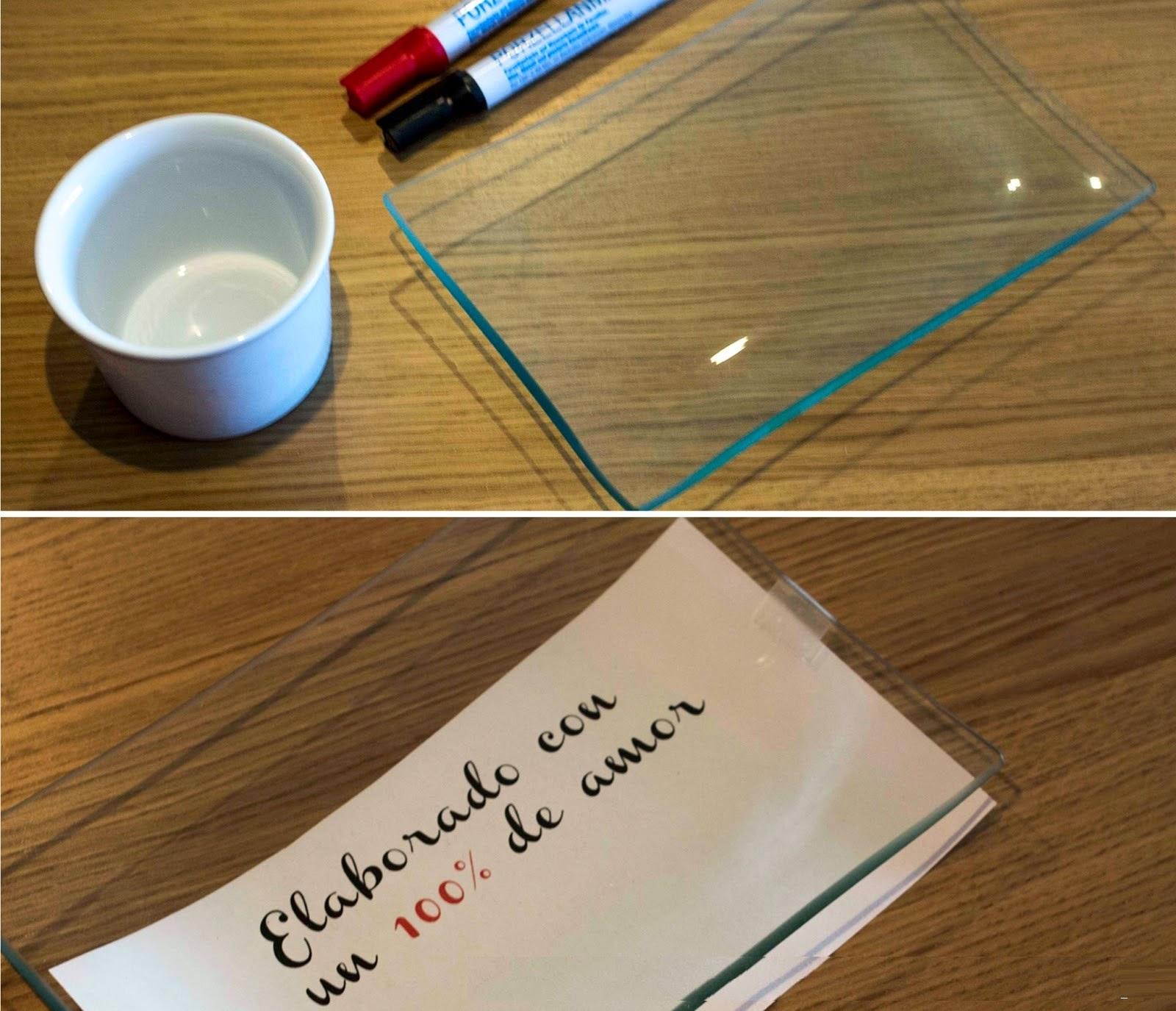 DIY, Como Decorar Vajilla de Porcelana y Cristal