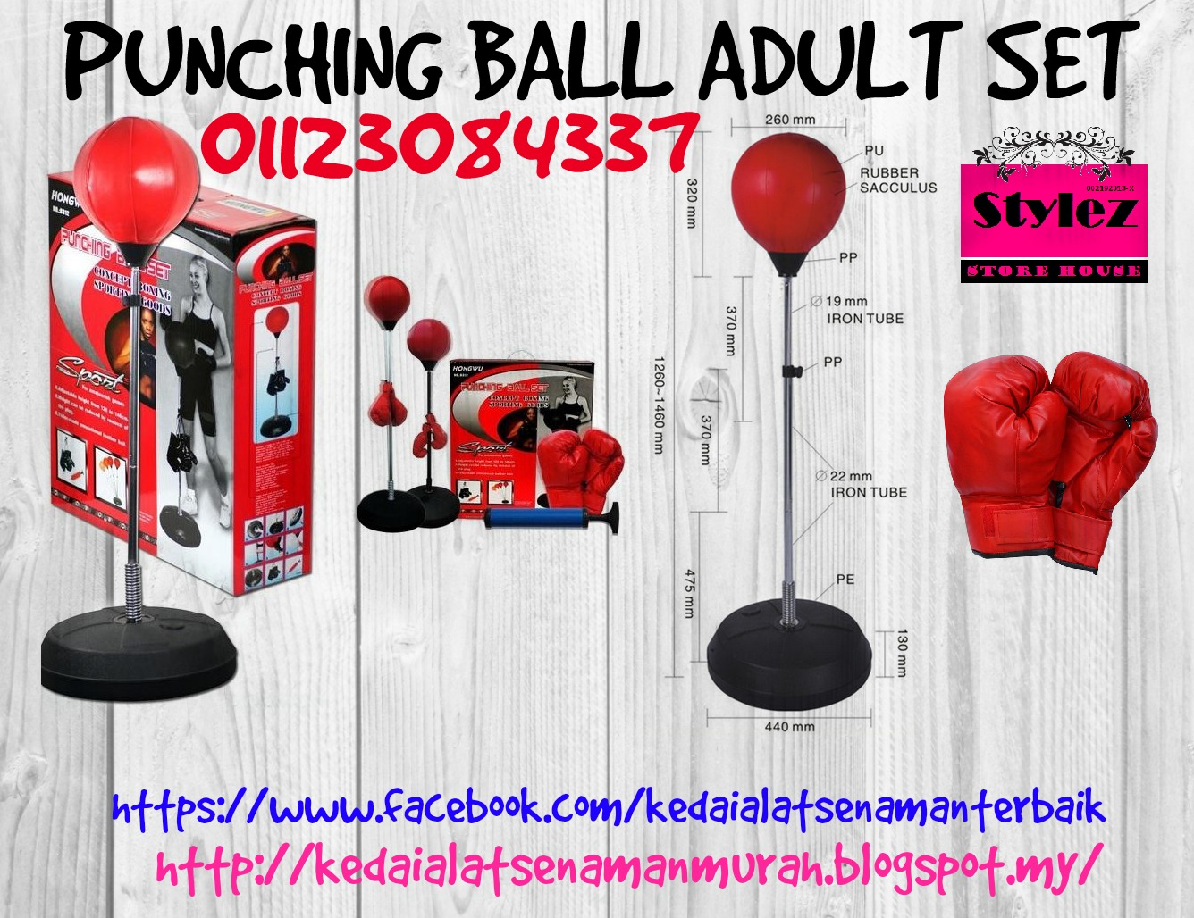 PUNCHING BALL ADULT SET