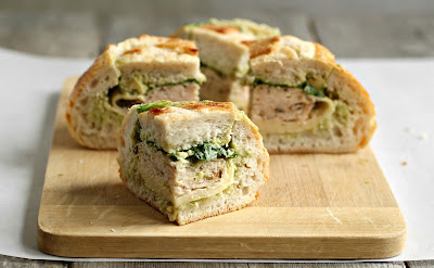 Turkey and Swiss Stuffed Sammie