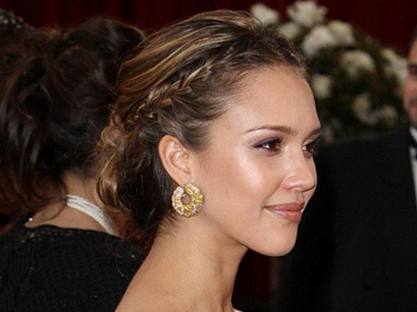 Peinado inspirado en JESSICA ALBA coleta con trenza elegante y  - Peinado Jessica Alba Trenza