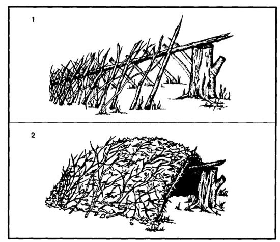 how to build a sleeping shelter